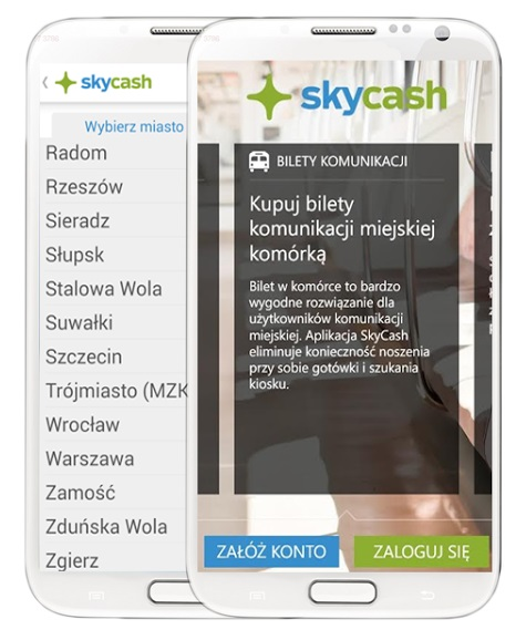Aplkacja SkyCash - system Android