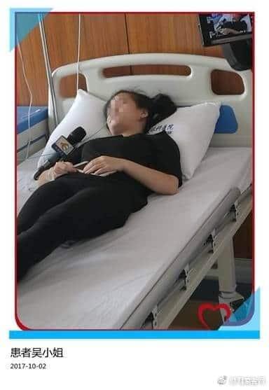 Chinka po utracie wzroku w szpitalu