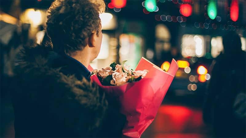 Bukiet kwiatów na pierwszą randkę