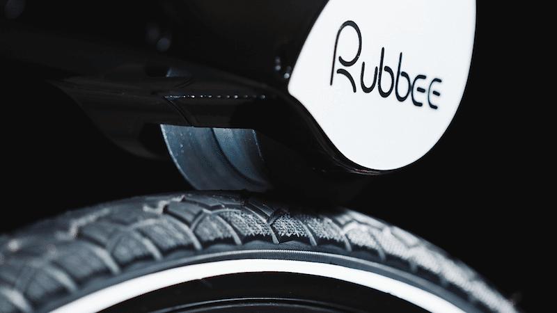 Rubbee - przyleganie wałka do tylnej opony roweru