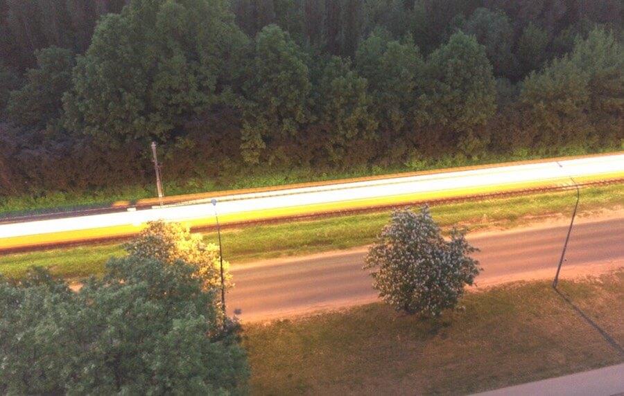 DJI Osmo Mobile 2 - efekt długiego czasu naświetlenia