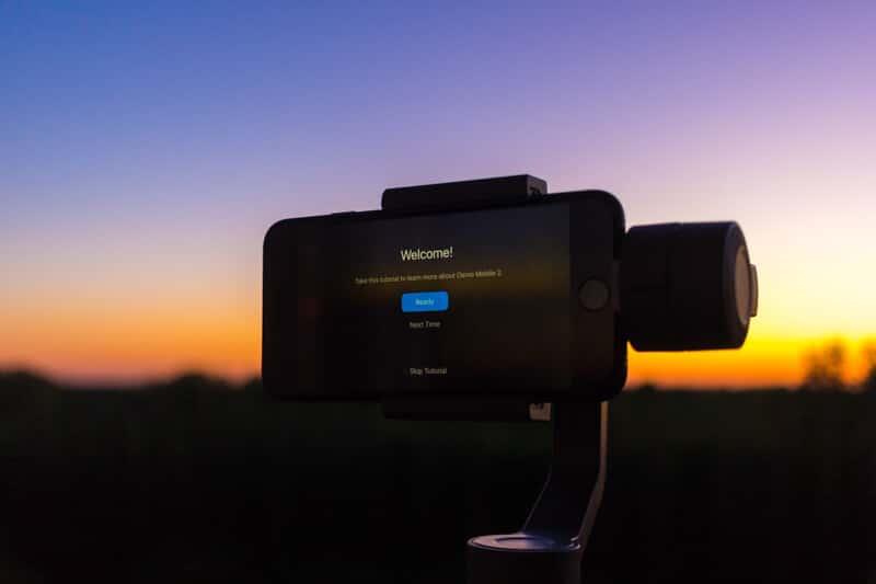 DJI Osmo Mobile 2 - ekran startowy DJI Go
