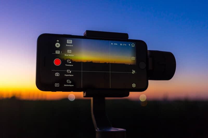 DJI Osmo Mobile 2 - tryb wideo