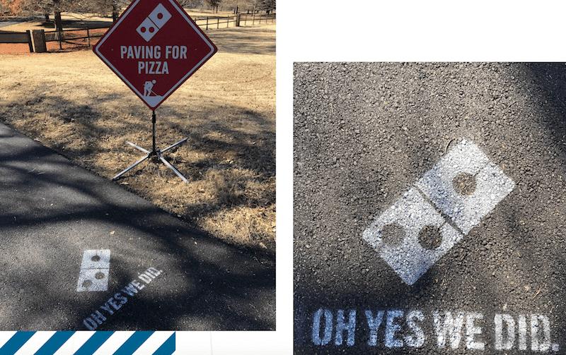Każda załatana dziura zostaje specjalnie oznaczona na drodze.