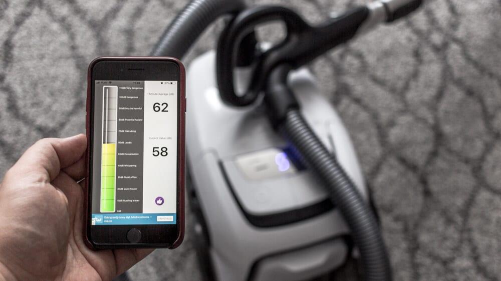 Pomiar głośności odkurzacza Electrolux