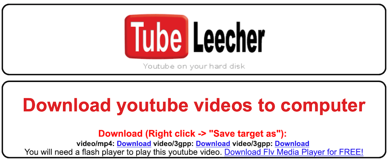 Tak wygląda ekran TubeLeecher po wpisaniu adresu URL materiału z YouTube.