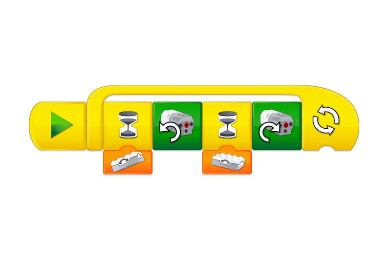 Programowanie w WeDo 2.0 - bloczki z poleceniami
