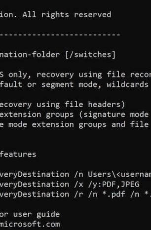 Windows File Recovery – darmowe narzędzie do odzyskiwania plików w Windows 10