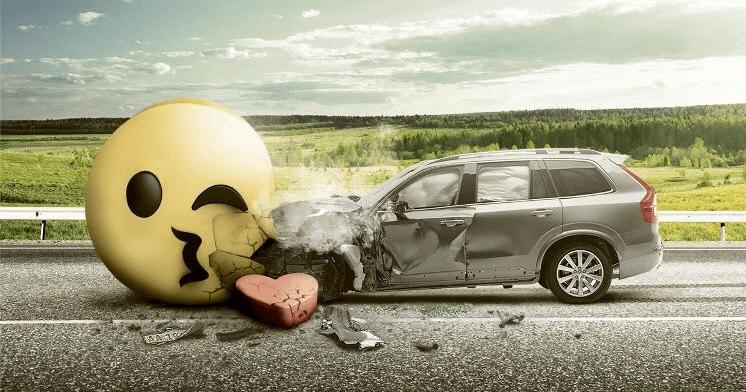 Social Crash - ilustracja z kampanii