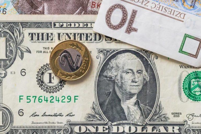 Moneta 2 zł, 10 zł i 1 dolar