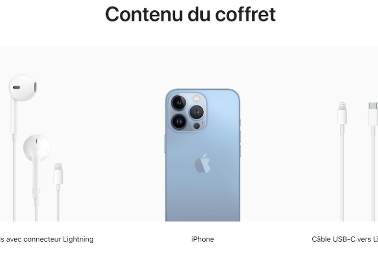 Zawartość pudełka iPhone 13 we Francji